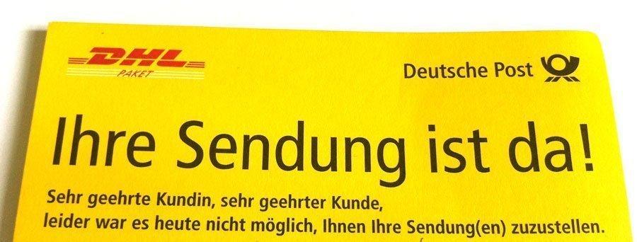 Die Berliner Post und ihre Benachrichtigungszettel | Foto: konsensor.de