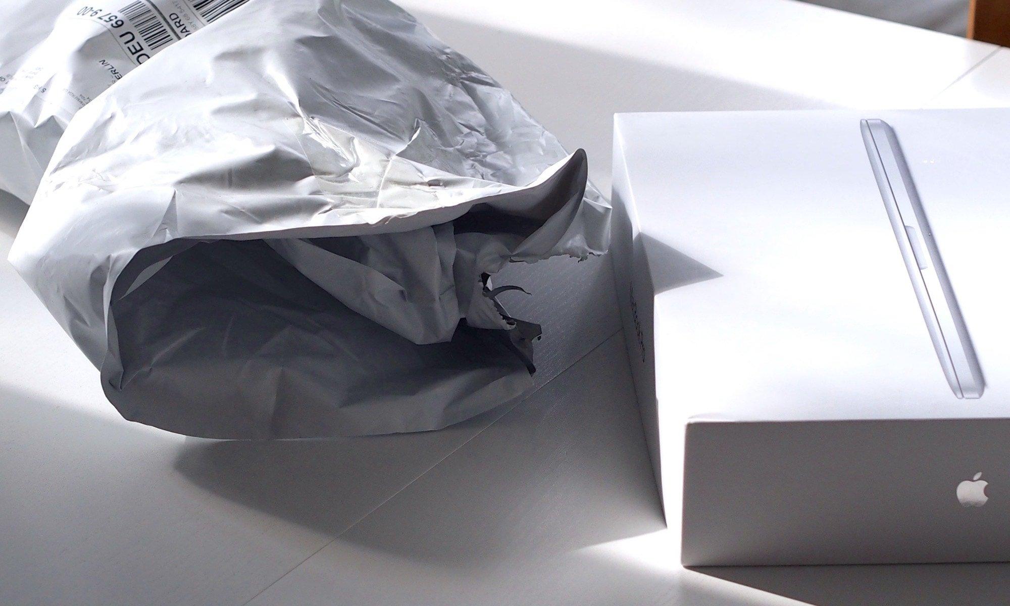 "Die ""Umverpackung"" der erhaltenen Rücksendung | Foto: konsensor.de"