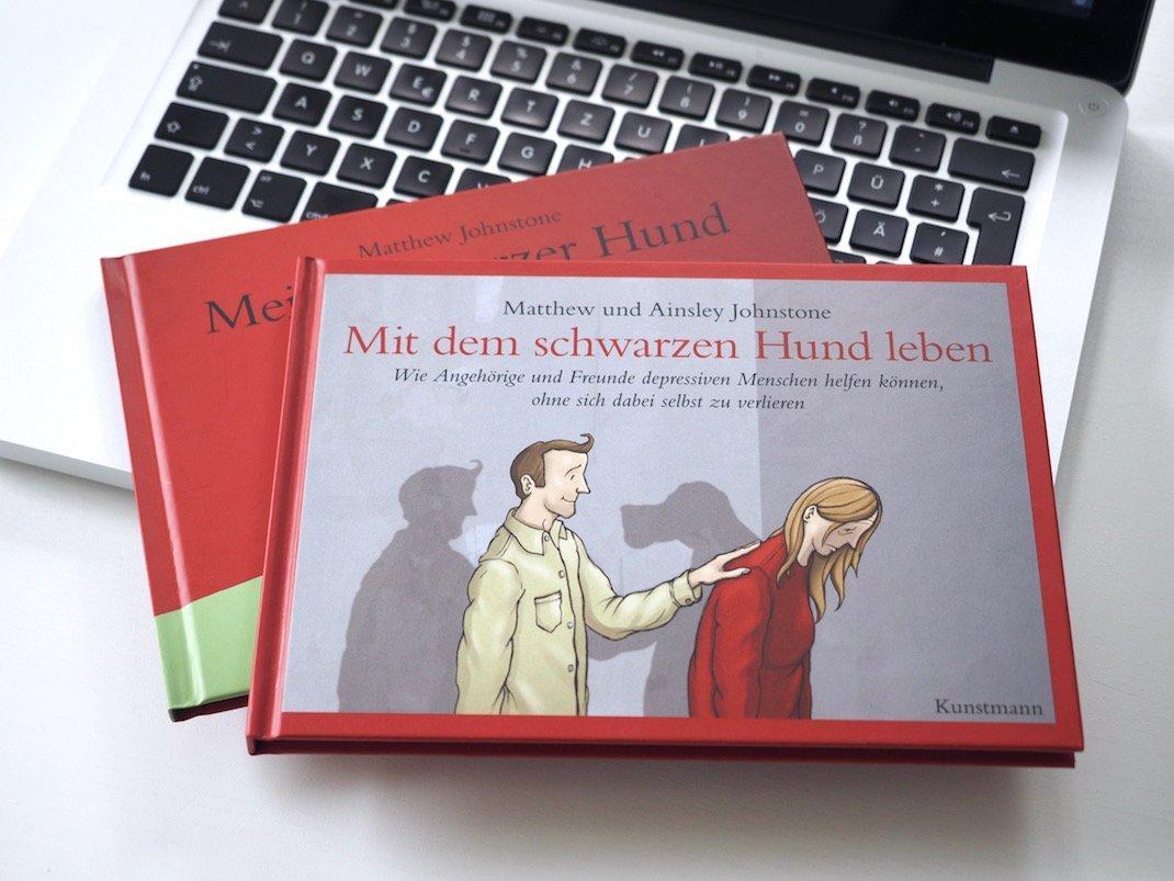 Mit dem schwarzen Hund leben von Ainsley und Matthew Johnstone – Kunstmann Verlag | Foto: konsensor.de