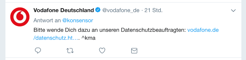 Vodafone_Tweet_170418 | Screenshot Twitter