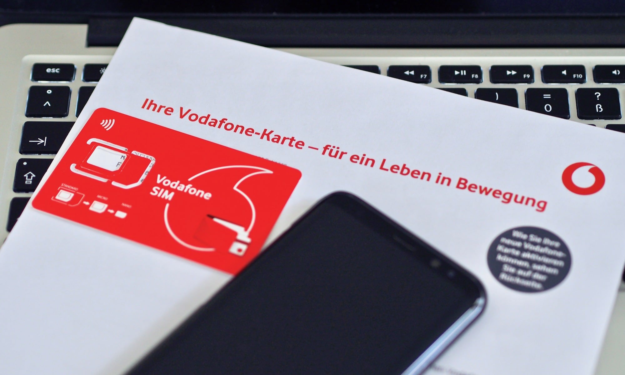 Die neue Vodafone SIM-Karte | Foto: konsensor.de