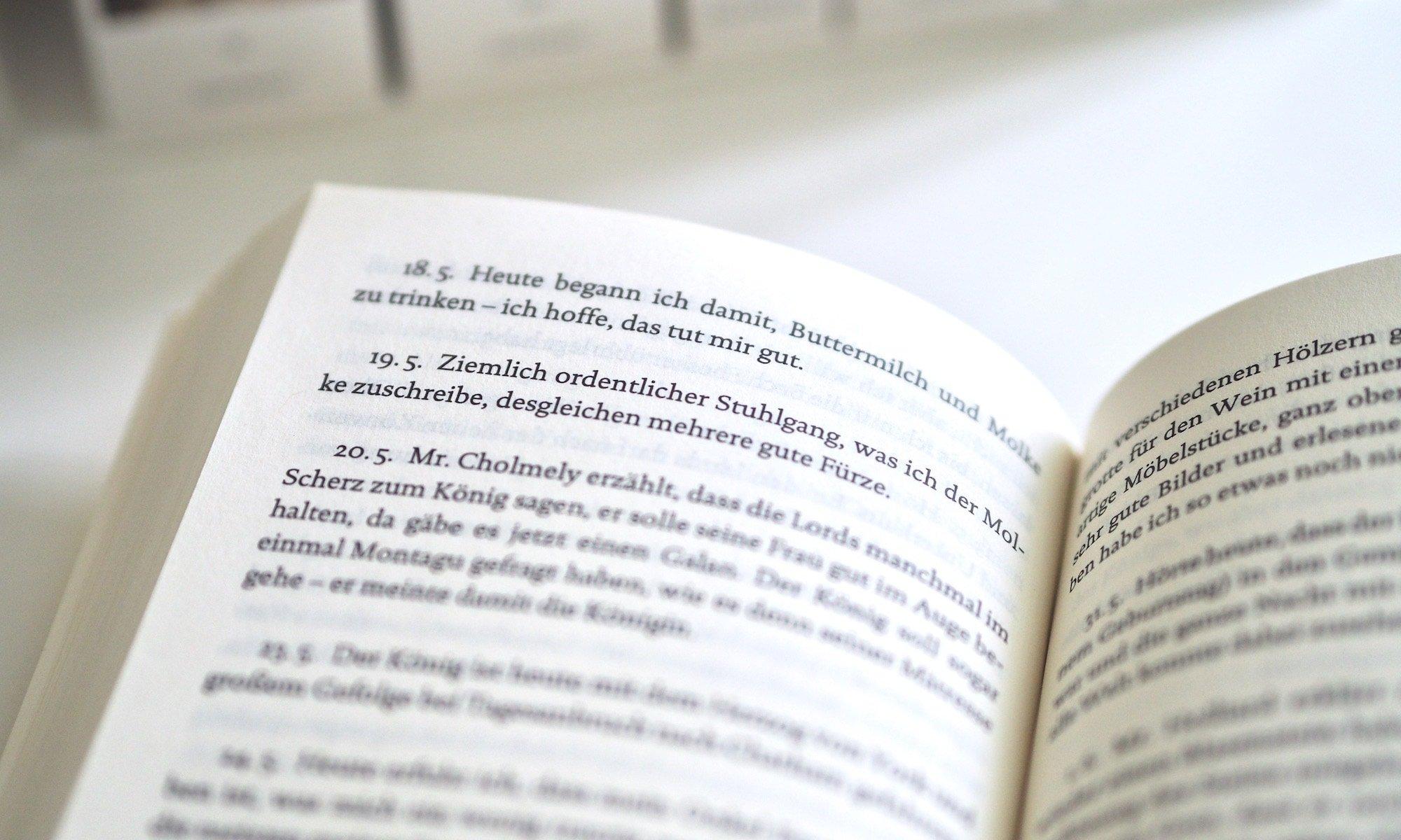 Samuel Pepys Tagebuch - Reclam | Foto: konsensor.de